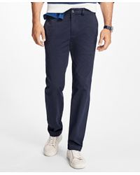 Brooks Brothers   Blue Garment-dyed Chinos for Men   Lyst
