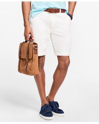 Brooks Brothers | White Stretch Cotton Twill Shorts for Men | Lyst