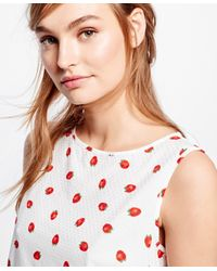 Brooks Brothers - Red Cotton Sleeveless Printed Shirt - Lyst