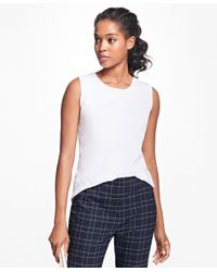 Brooks Brothers | White Supima® Cotton Pointelle Shell | Lyst