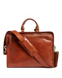 Brooks Brothers | Brown J.w. Hulme Leather Slim Portfolio Briefcase for Men | Lyst