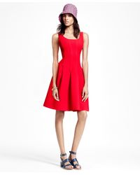 Brooks Brothers Green Sleeveless Wool Crepe Dress