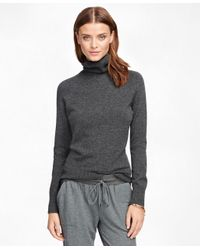 Brooks Brothers | Gray Cashmere Turtleneck | Lyst