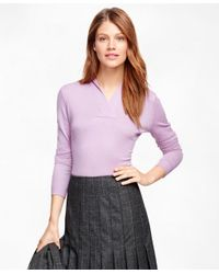 Brooks Brothers | Purple Shawl Collar Sweater | Lyst