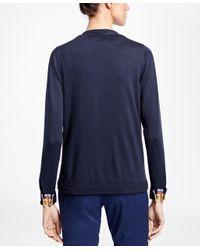 Brooks Brothers - Black Multi-stripe Supima® Cotton Cardigan - Lyst