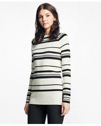 Brooks Brothers | Black Nautical Silk-cotton Square-neck Sweater | Lyst
