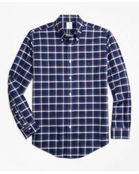 Brooks Brothers | Blue Non-iron Milano Fit Check Sport Shirt for Men | Lyst