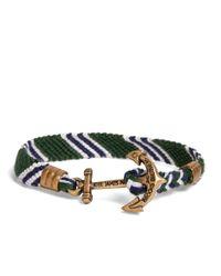 Brooks Brothers | Kiel James Patrick Green Hitch Knot Braided Bracelet for Men | Lyst