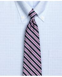 Brooks Brothers | Purple Framed Twill Stripe Tie for Men | Lyst