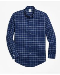 Brooks Brothers - Blue Non-iron Regent Fit Windowpane Sport Shirt for Men - Lyst