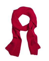Brooks Brothers - Red Ribbed Cashmere Scarf for Men - Lyst