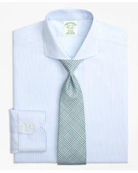 Brooks Brothers - Blue Milano Slim-fit Dress Shirt, Non-iron Alternating Stripe for Men - Lyst