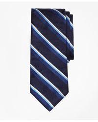 Brooks Brothers - Blue Sidewheeler Double Stripe Tie for Men - Lyst