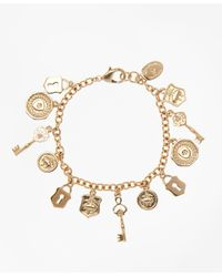 Brooks Brothers - Metallic Gold-plated Golden Fleece® Charm Bracelet - Lyst