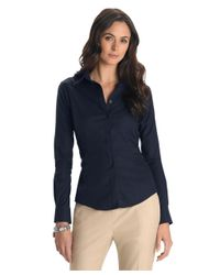 Brooks Brothers - Blue Petite Non-iron Tailored Fit Dress Shirt - Lyst