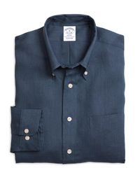 Brooks Brothers   Blue Madison Fit Linen Sport Shirt for Men   Lyst