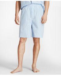 Brooks Brothers - Blue Seersucker Short Pajamas for Men - Lyst