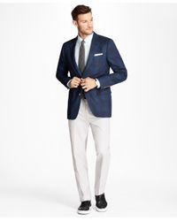 Brooks Brothers - Gray Non-iron Clark Fit Supima® Cotton Oxford Chinos for Men - Lyst
