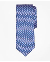 Brooks Brothers - Blue Bow Tie Motif Print Tie for Men - Lyst