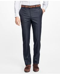 Brooks Brothers - Gray Fitzgerald Fit Wool Dress Trousers for Men - Lyst