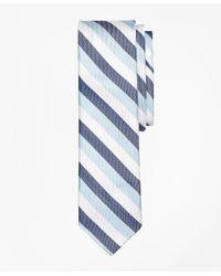 Brooks Brothers | Blue Tri-tone Stripe Silk Tie for Men | Lyst