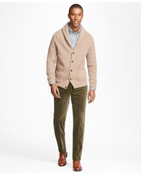Brooks Brothers - Green Milano Fit Wide Wale Stretch Corduroys for Men - Lyst