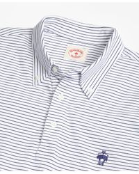 Brooks Brothers - Blue Feeder-stripe Jersey Polo Shirt for Men - Lyst