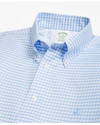 Brooks Brothers - Blue Non-iron Milano Fit Gingham Sport Shirt for Men - Lyst