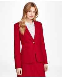 Brooks Brothers - Red Wool-blend Patch-pocket Blazer - Lyst