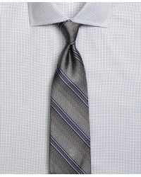 Brooks Brothers - Gray Natte Double Stripe Tie for Men - Lyst