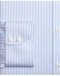 Brooks Brothers - Blue Madison Classic-fit Dress Shirt, Non-iron Split Stripe for Men - Lyst