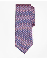 Brooks Brothers - Purple Bow Tie Motif Print Tie for Men - Lyst