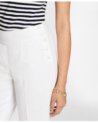 Brooks Brothers - White Linen-cotton Wide-leg Cropped Pants - Lyst
