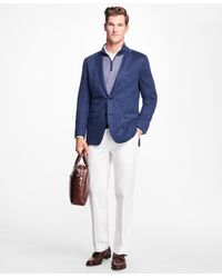 Brooks Brothers - White Milano Fit Supima® Cotton Stretch Chinos for Men - Lyst
