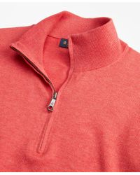 Brooks Brothers - Red Supima® Cotton Half-zip Sweater for Men - Lyst