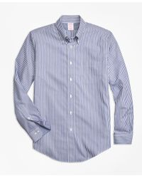 Brooks Brothers | Blue Non-iron Madison Fit Bengal Stripe Sport Shirt for Men | Lyst