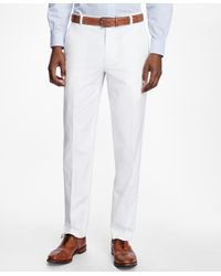 Brooks Brothers - White Milano Fit Supima® Cotton Poplin Pants for Men - Lyst