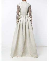 Alessandra Rich - White Shantung Lace A-line Dress - Lyst