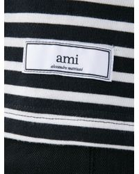 AMI - Black Stripe Knit Long Sleeve T-shirt for Men - Lyst