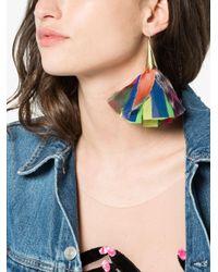 Katerina Makriyianni - White Silk Flower Earrings - Lyst