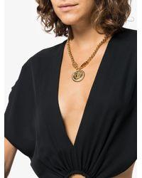Versace - Metallic Medusa Head Crystal Necklace - Lyst