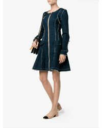 Natasha Zinko - Blue Flared Denim Dress - Lyst