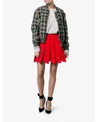 Miu Miu - Red - Pleated Mini Skirt - Women - Virgin Wool - 42 - Lyst