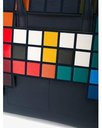 Anya Hindmarch - Blue Space Invaders Tote - Lyst