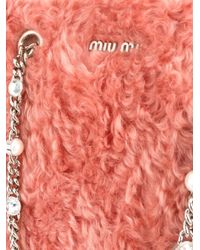Miu Miu - Multicolor Faux Fur Tote - Lyst