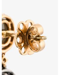 Saqqara - Metallic Diamond Earrings - Lyst