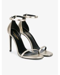 Saint Laurent - Black Jane 105 Sandals - Lyst