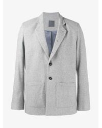 Lot78 - Gray Single Breasted Blazer for Men - Lyst