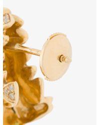 Yvonne Léon - Metallic Alligator Earrings - Lyst
