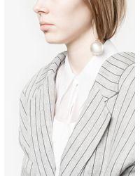Simone Rocha - Metallic Hoop Pearl Single Earring - Lyst